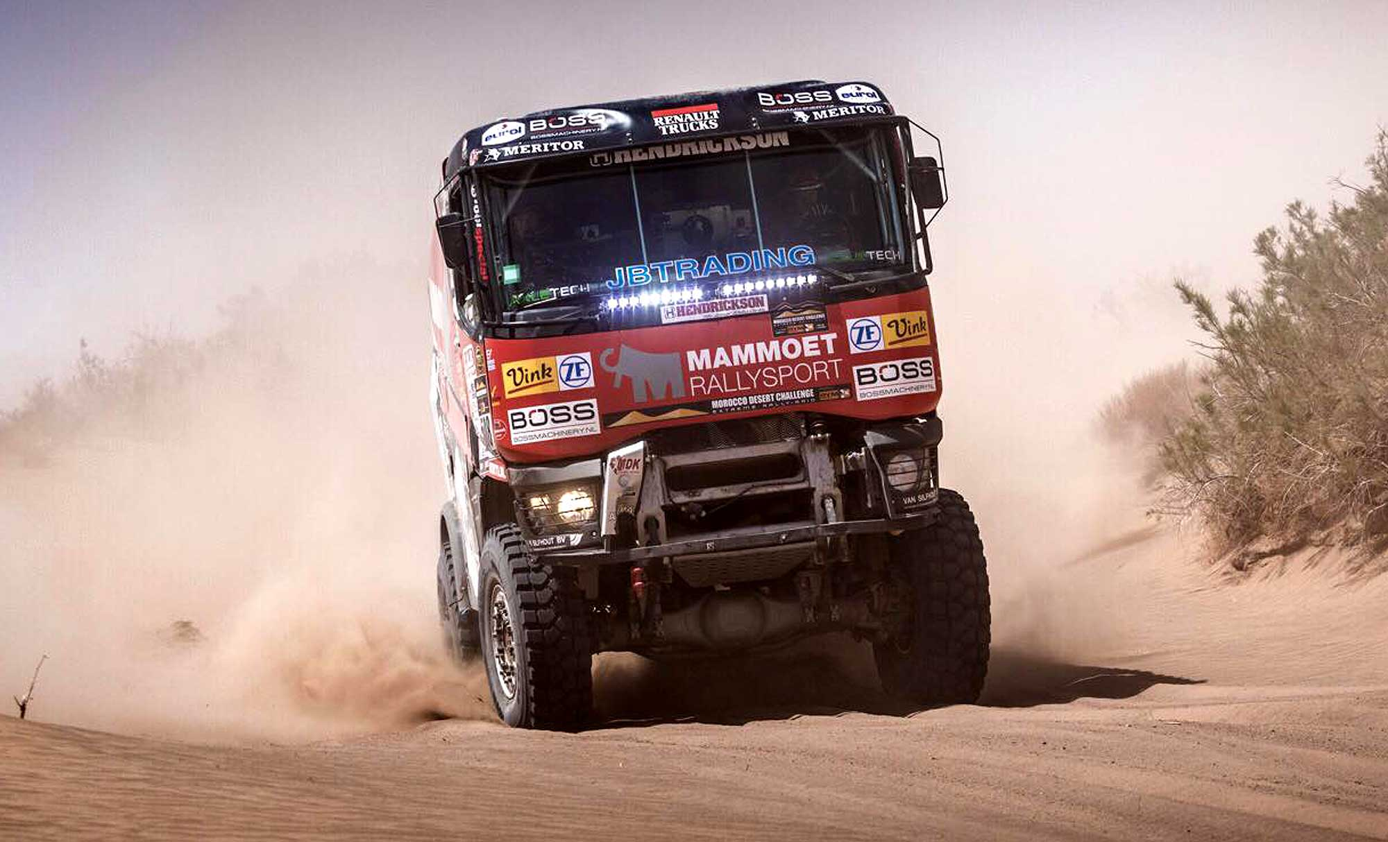 Morocco Desert Challenge Mechanics Deliver Van Kasteren His